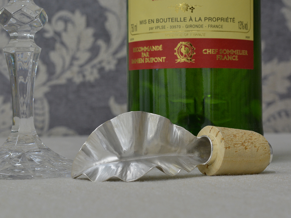 Fine Silver Wine Pourer