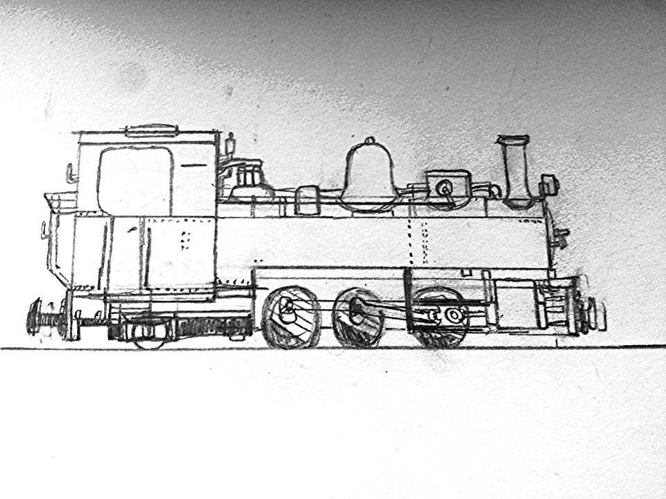 A  concept drawing of the locomotive below that is an approximation of what the loco will look like when done.