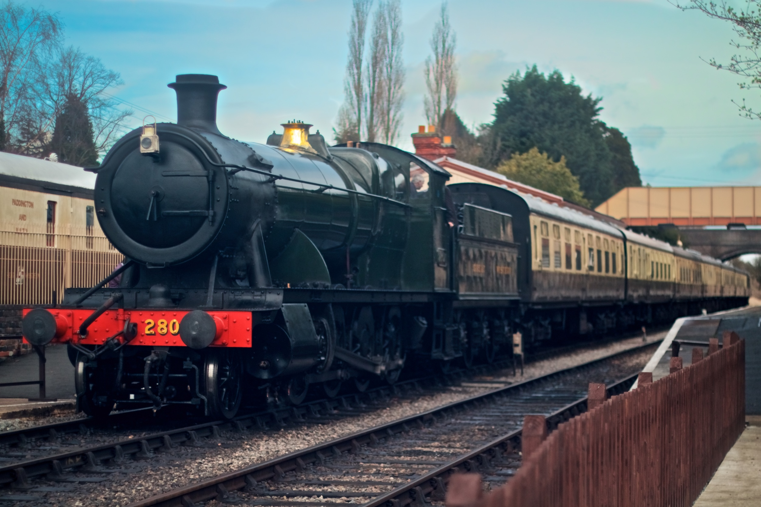 28xx class loco on the Gloucester and Warwickshire Railway - Photo: Gwion Rhys Davies