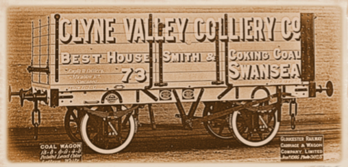 photograph of one of the original Clyne Valley wagons