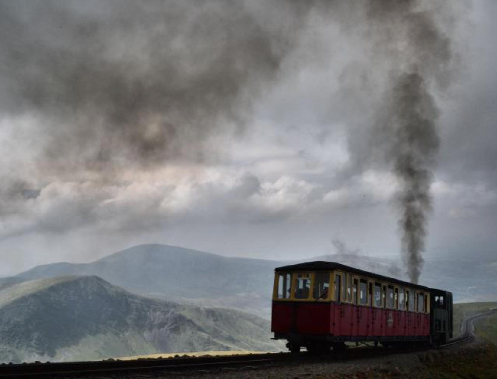 A moody Snowdon Mountain Railway, Photo by Tony Richards