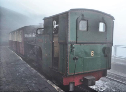 Yet another bleak day on Snowdon. Photo by Tony Richards.