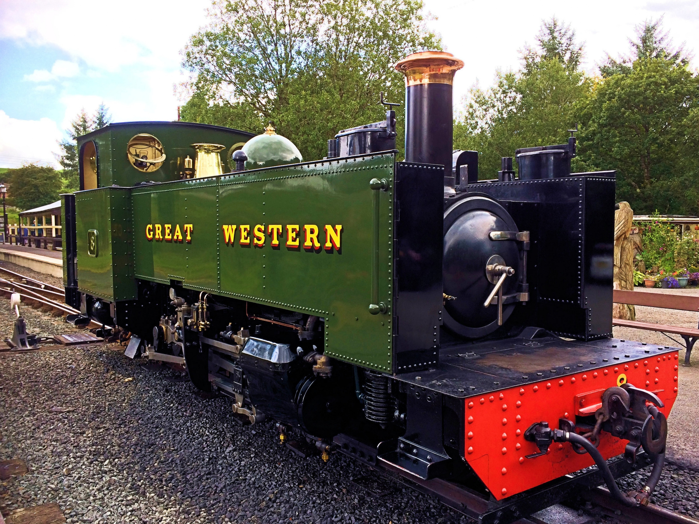 Vale of Rheidol Number 8. Built by the GWR at Swindon Works in 1923 and at one time named 'Llywelyn'.     Photo By Tony Richards