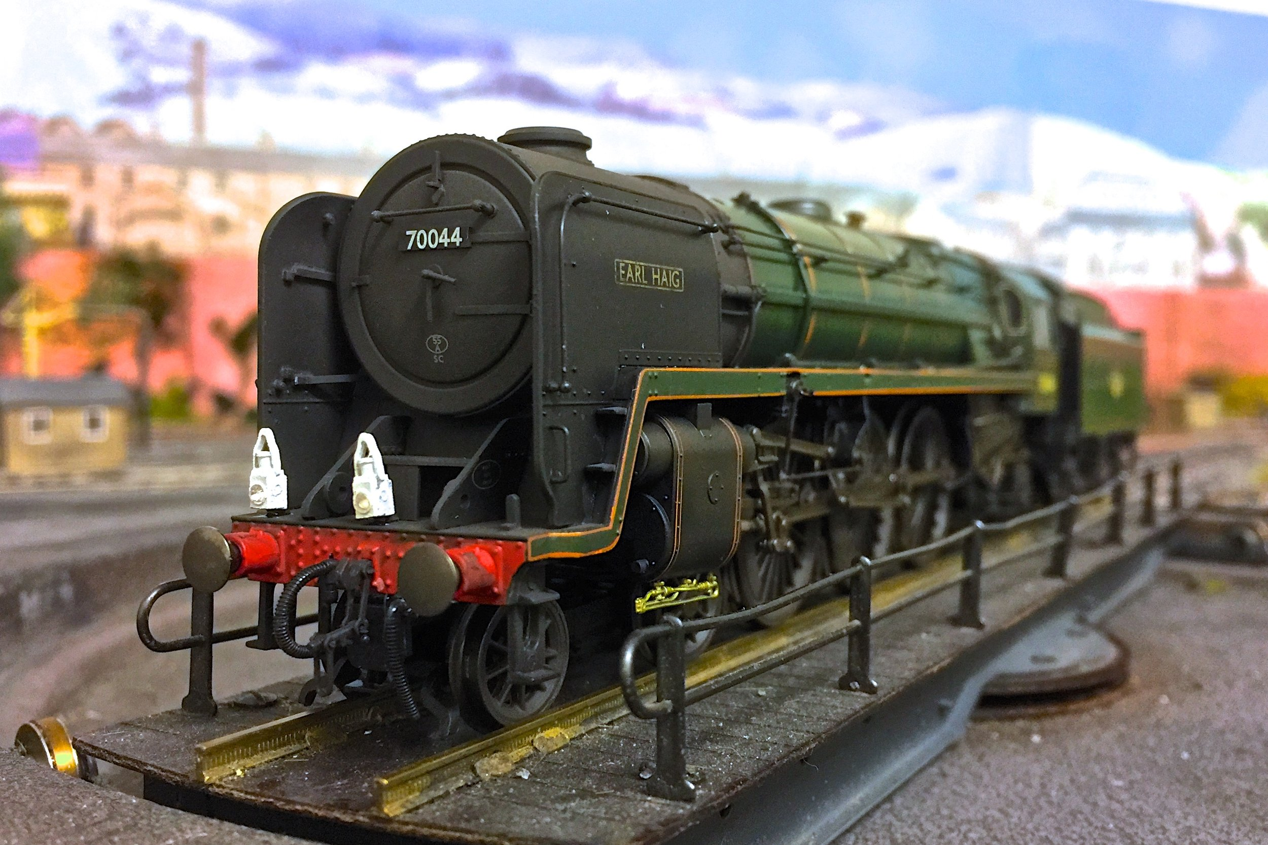 """Number 70044 """"Earl Haig"""", weathered buy Scott Rhodes, photograph by Gwion Rhys Davies."""