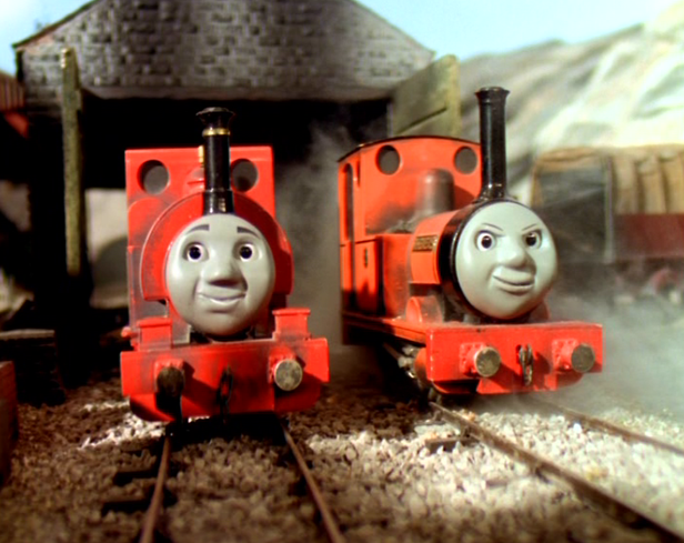 Skarloey and Rheneas as presented in the TV Show.
