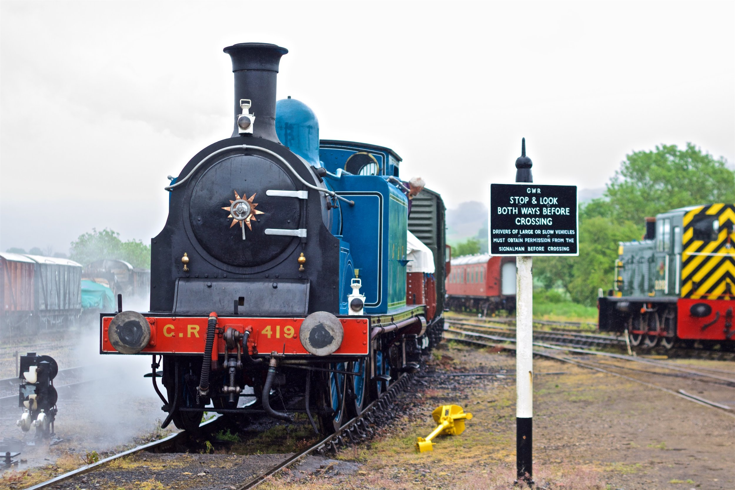 Caledonian 0-4-4T No. 419 at the Festival of Steam Photograph by Gwion Rhys Davies