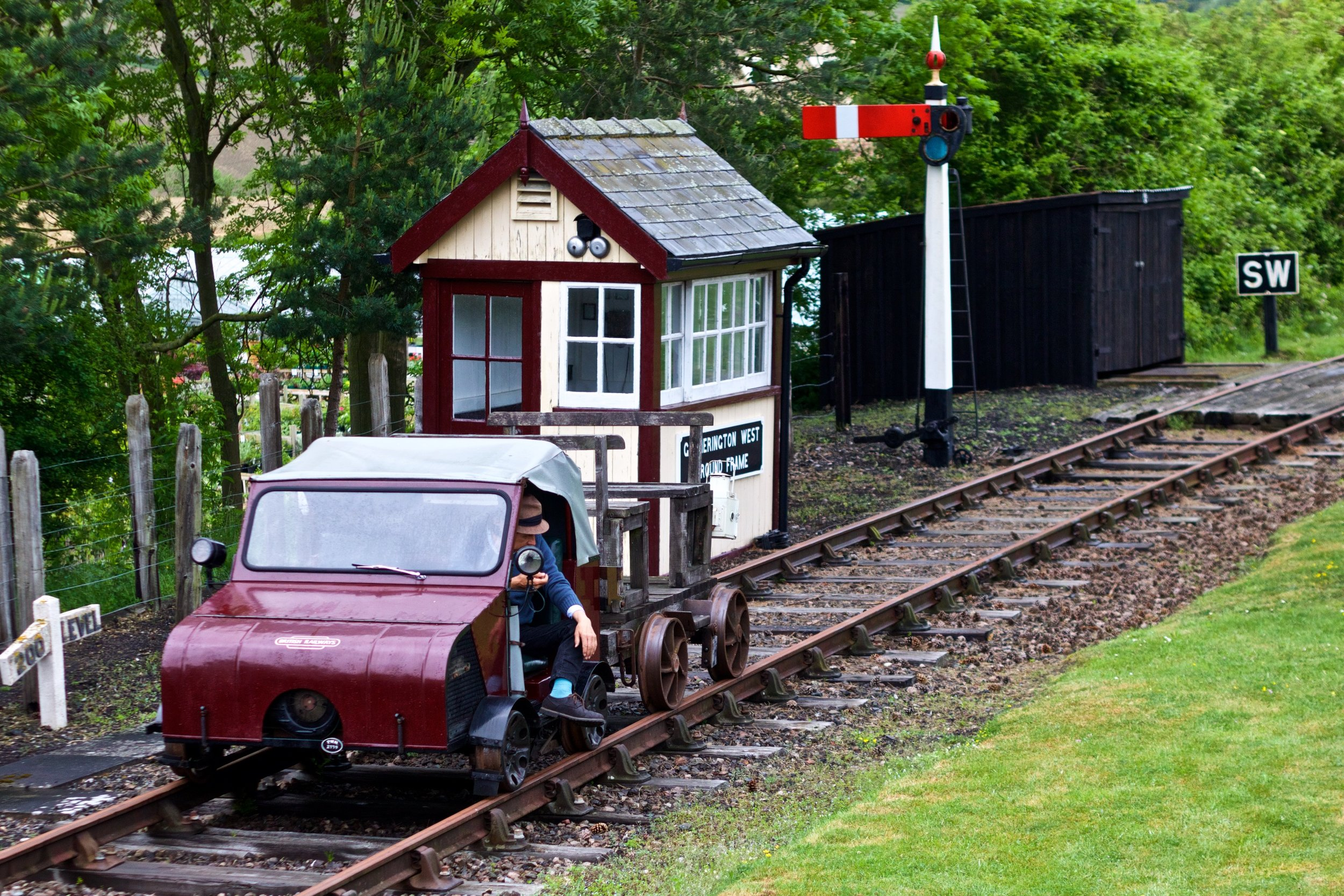 An early Wickham Rail Trolley at the Festival of Steam Photograph by Gwion Rhys Davies