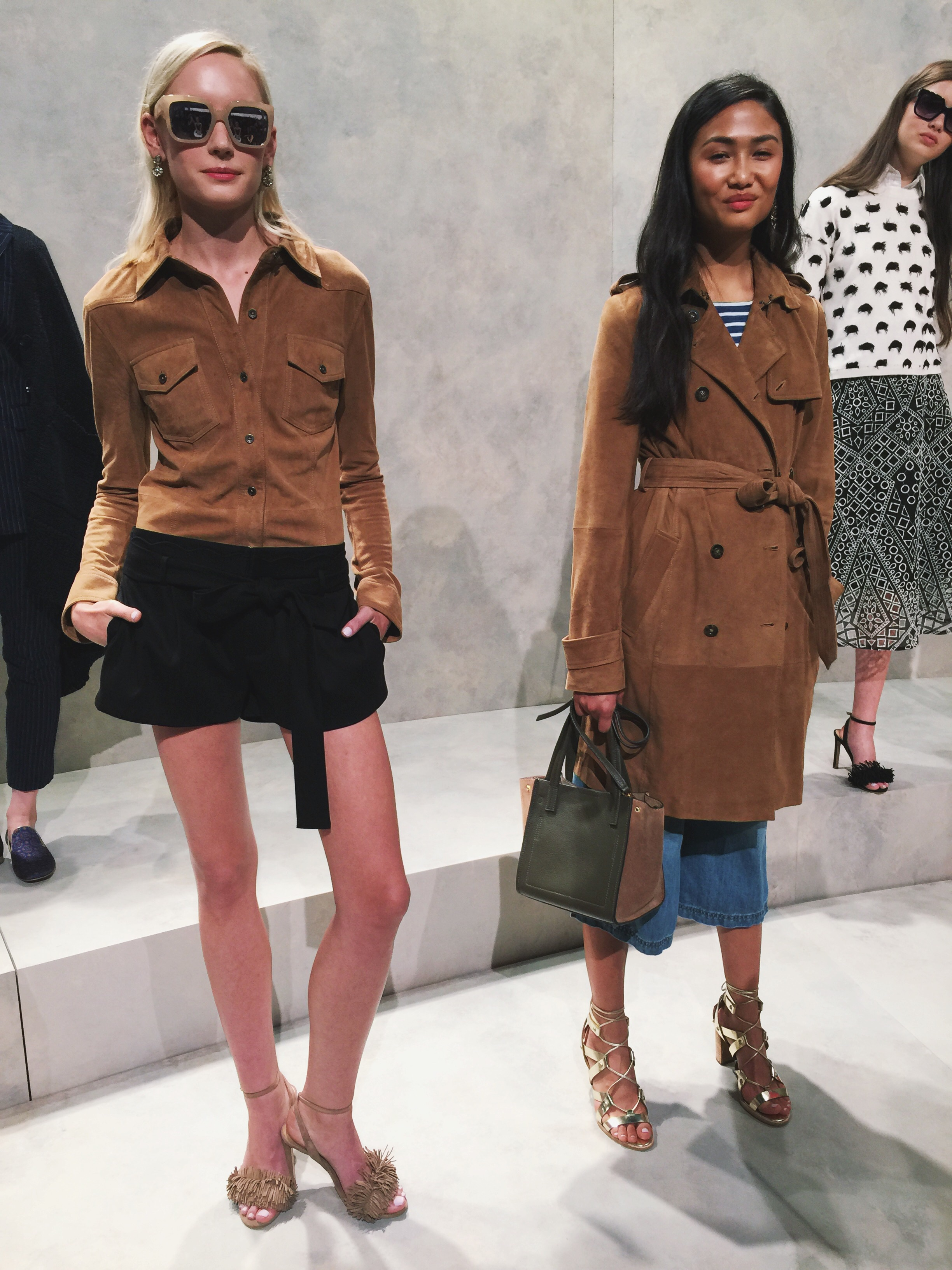 These earth tones were everywhere throughout the week. And this rich camel color in suede took the cake.
