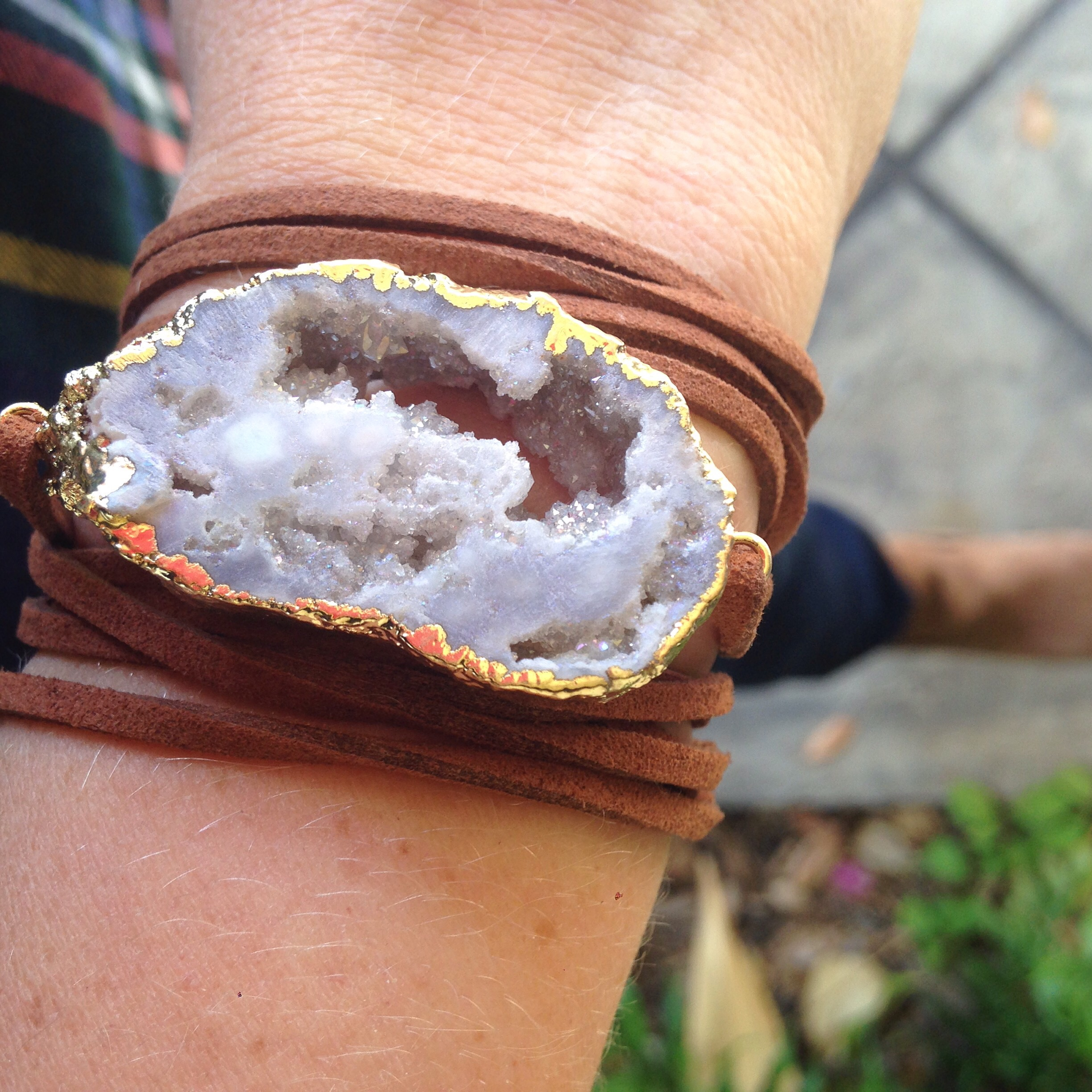 And how great is  this  druzy wrap bracelet? I love it, and the price!!