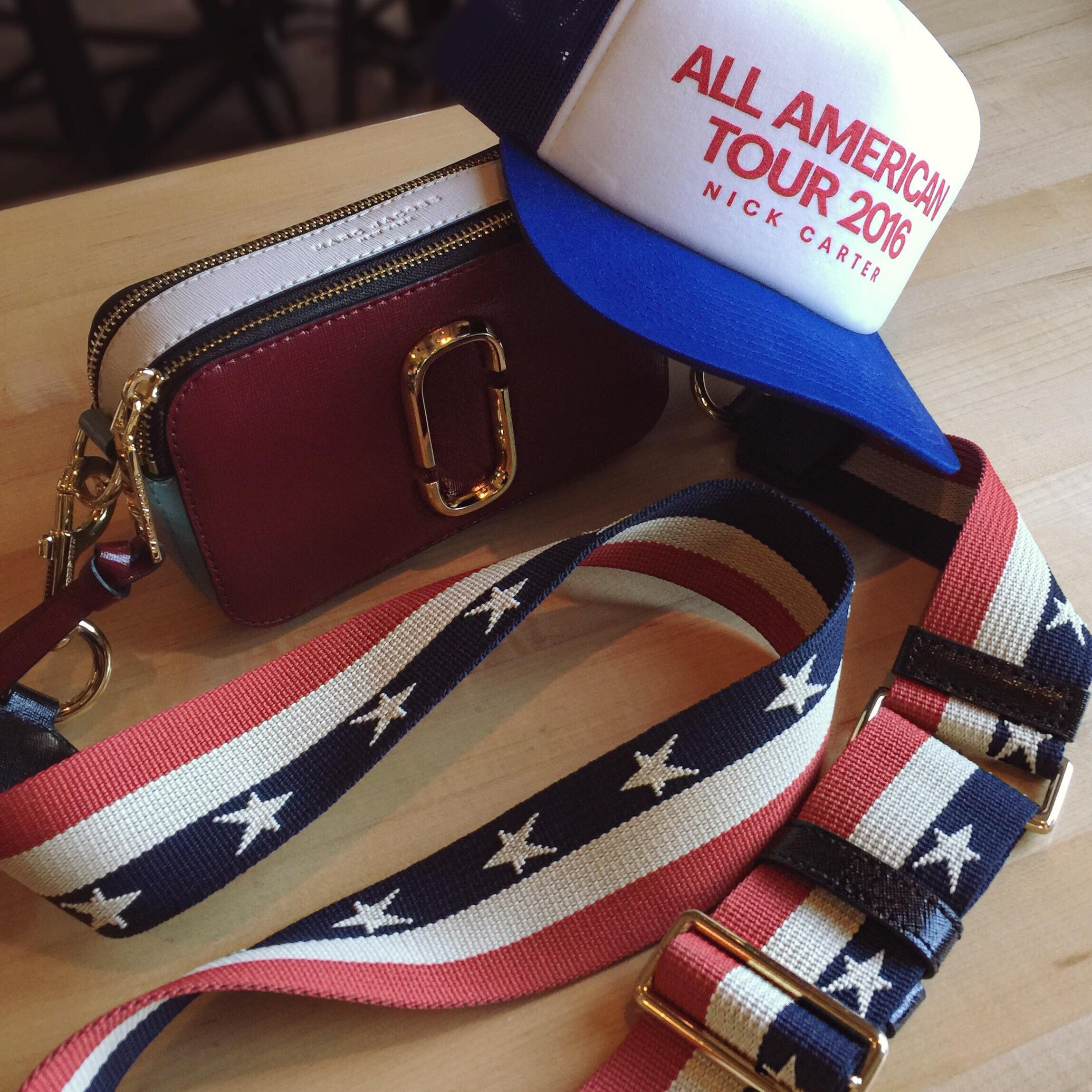 Hat:  Nick Carter Merch  Crossbody bag:  Marc Jacobs