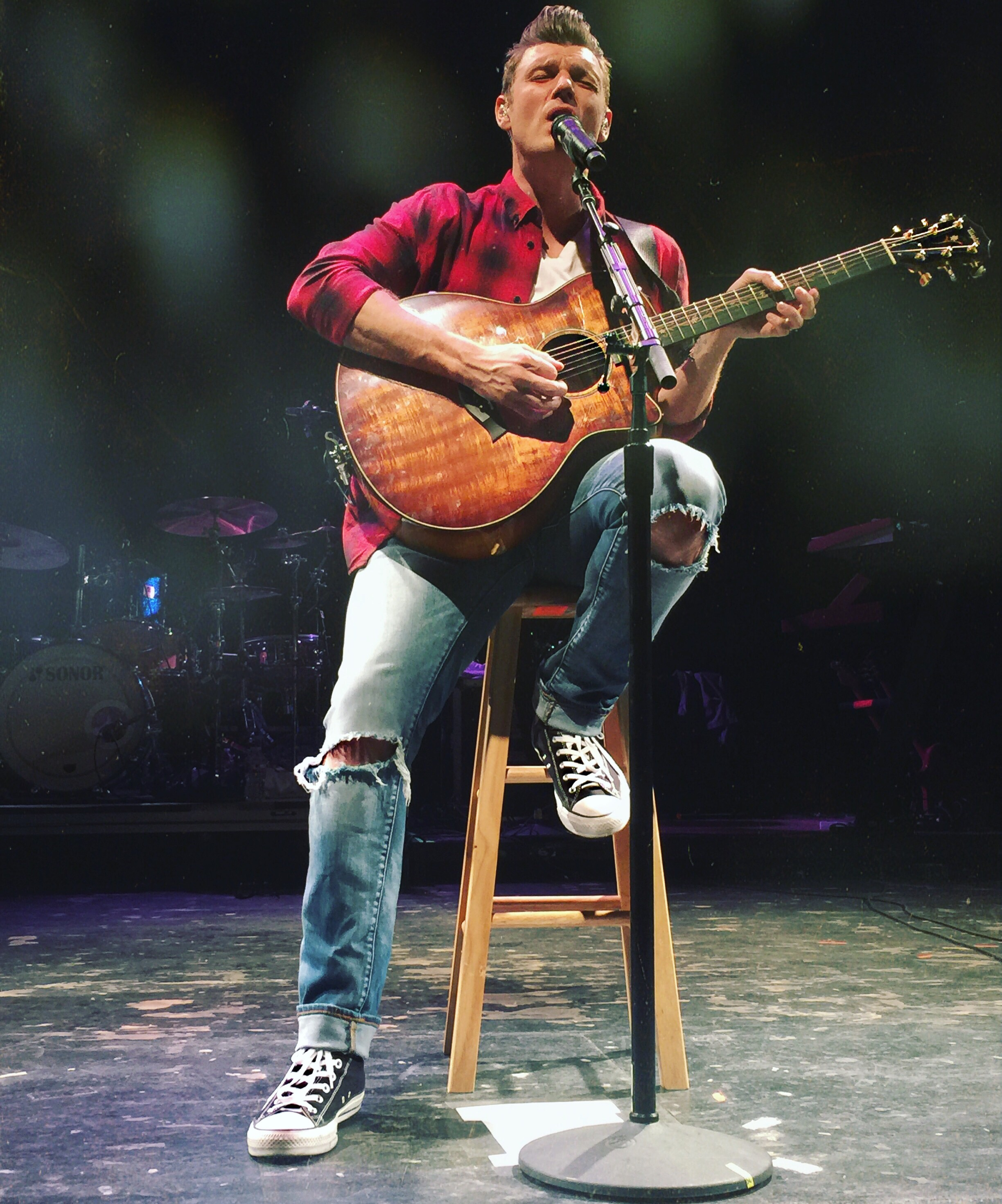 If you have the opportunity to see Nick on tour, you should. It's a really fun show, filled with his solo material, Backstreet Boys classics, and throwback covers. Plus, dancing...*swoon*. It's the perfect girl's night out...or couple of nights. Ha! I am currently having withdrawals.