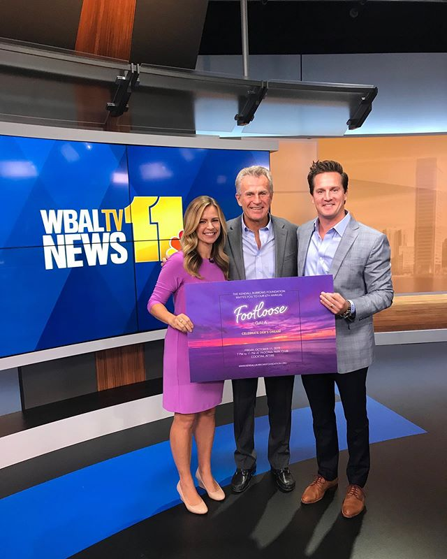 Thanks @wbaltv11 for our live spot this morning!! We appreciate the support 💜  #footlooseKBF #baltimore #maryland #dogood #spreadlove #tvstars @hopkinschildrens @padoniaparkclub