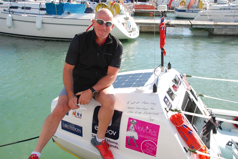 Steve Sideaway (who has written on the boat)