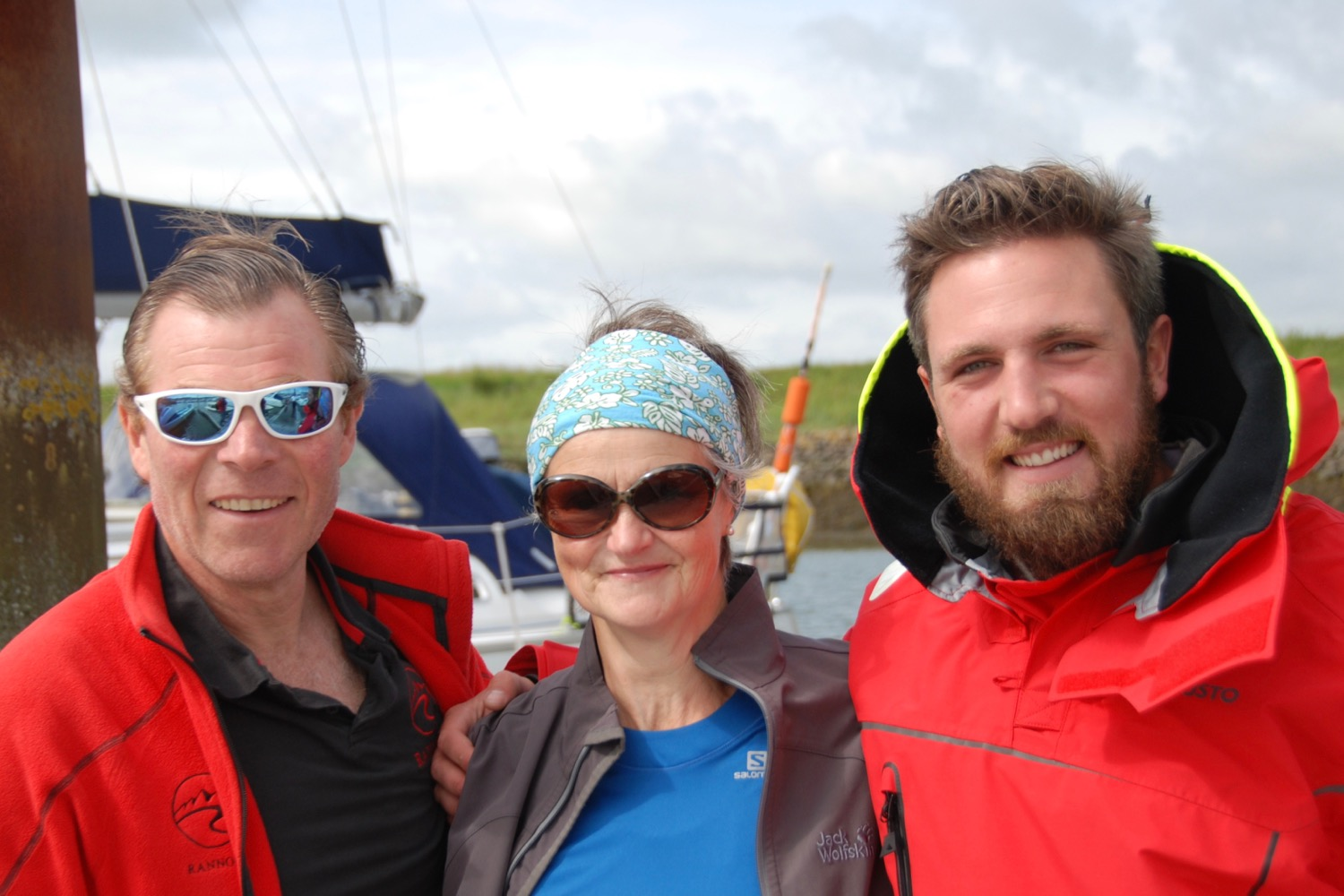 Charlie Pitcher and Angus Collins who have rowed across a lot of ocean