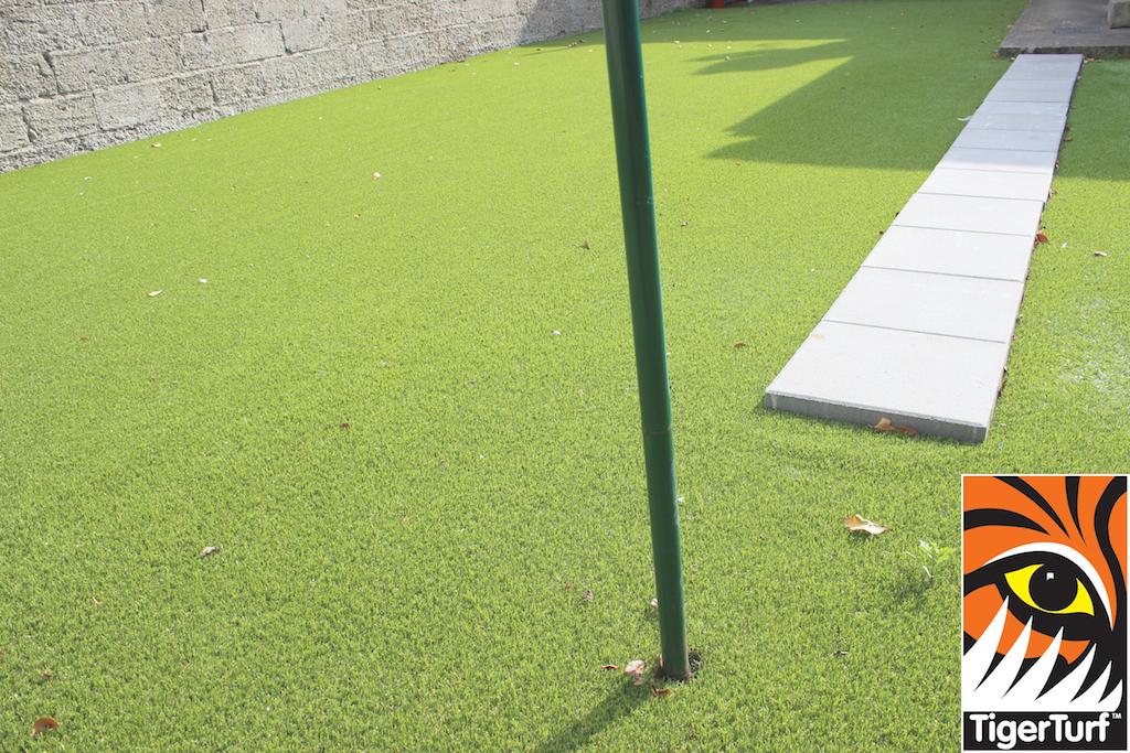 TigerTurf synthetic grass installation