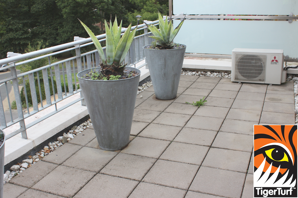 Balcony before turf installation