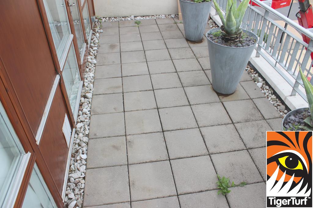 apartment patio prior to grass install