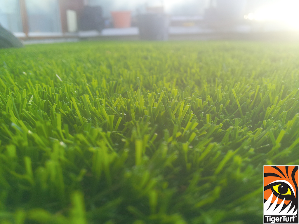 synthetic grass installed on balcony