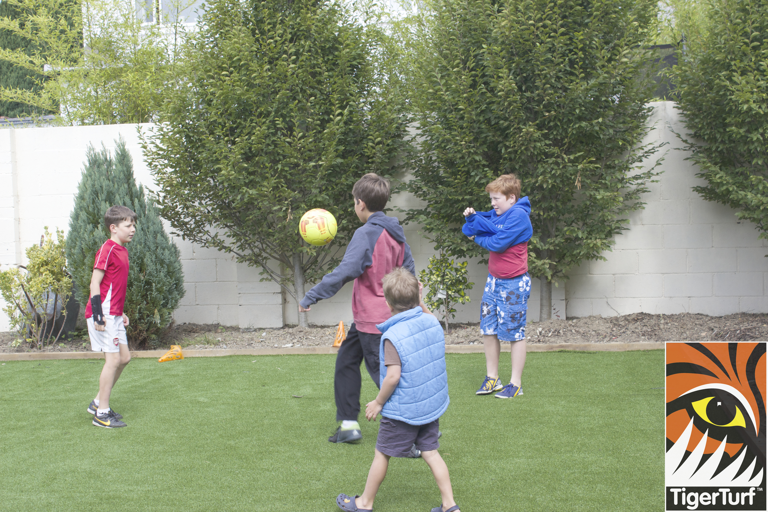 brothers playing football
