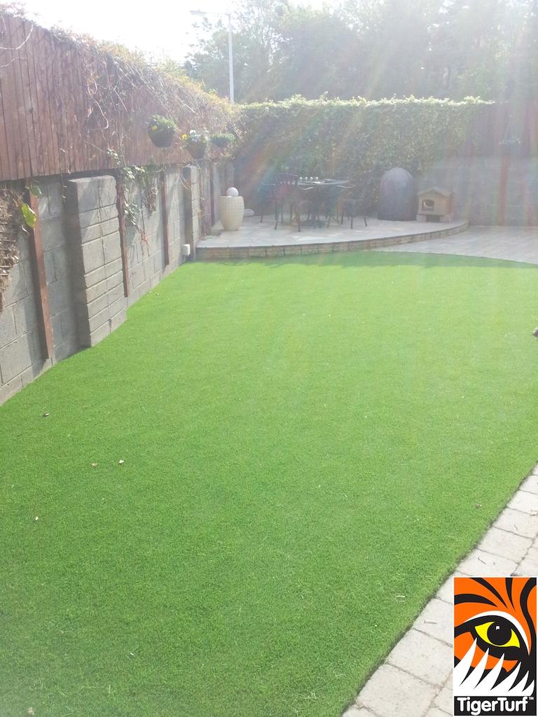 view of new Tigerturf lawn