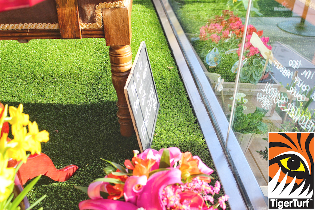 Shop window with TigerTurf