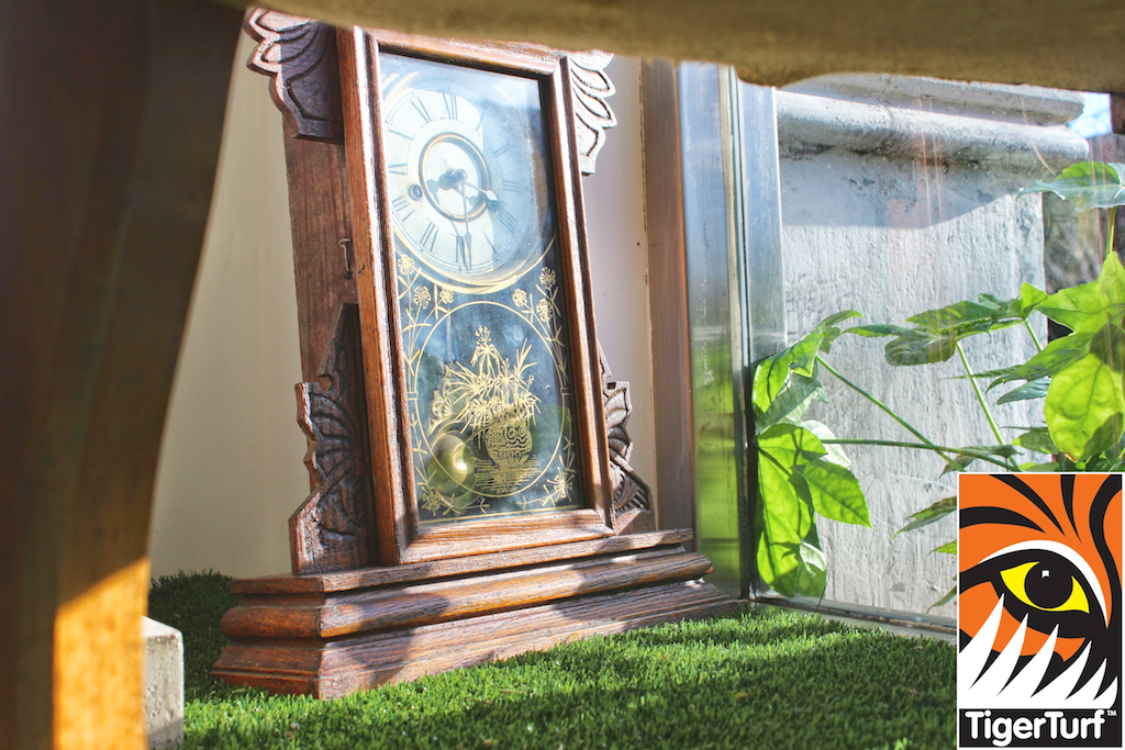 old clock in Florist window