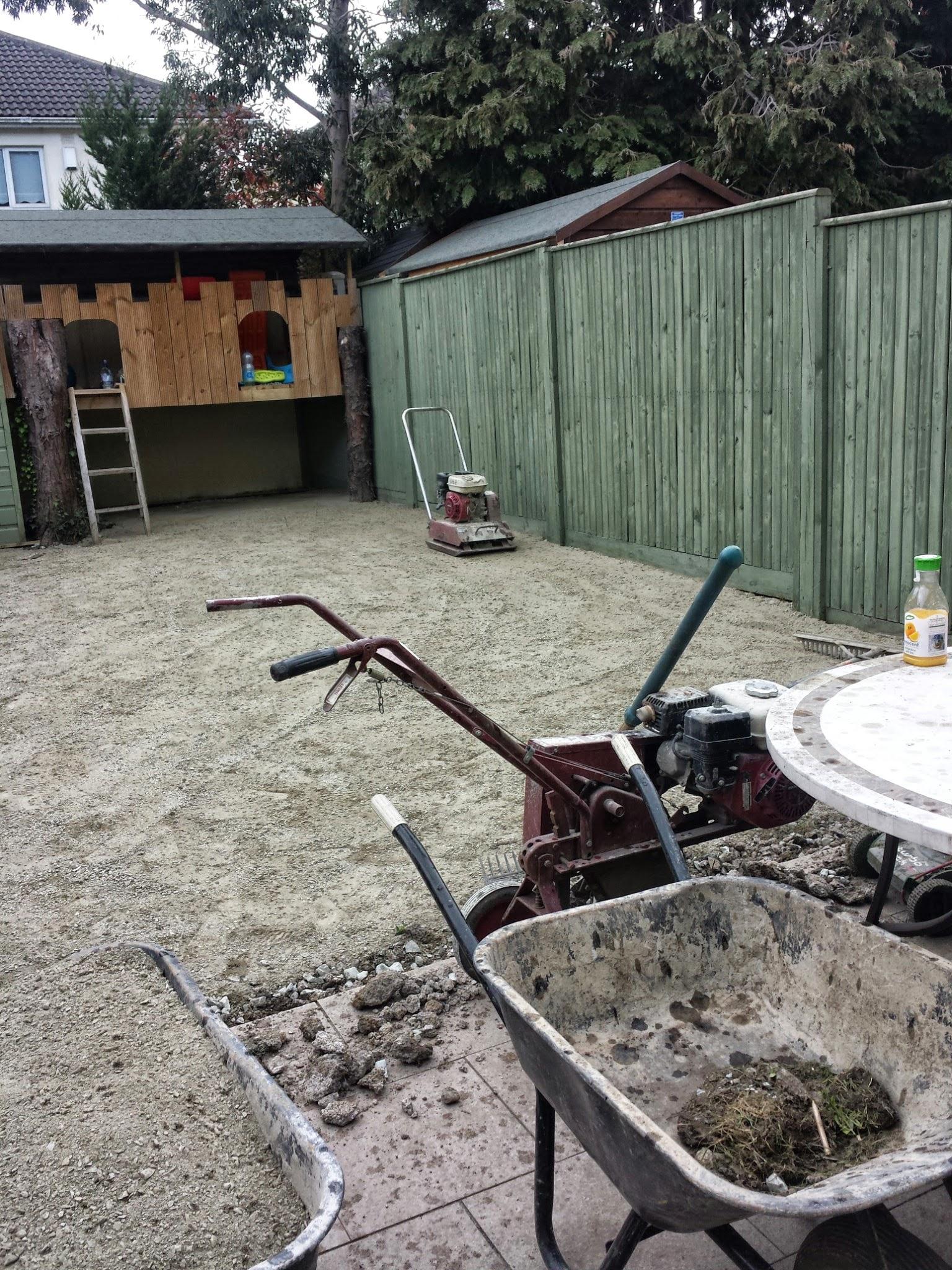 garden prior to lawn installation