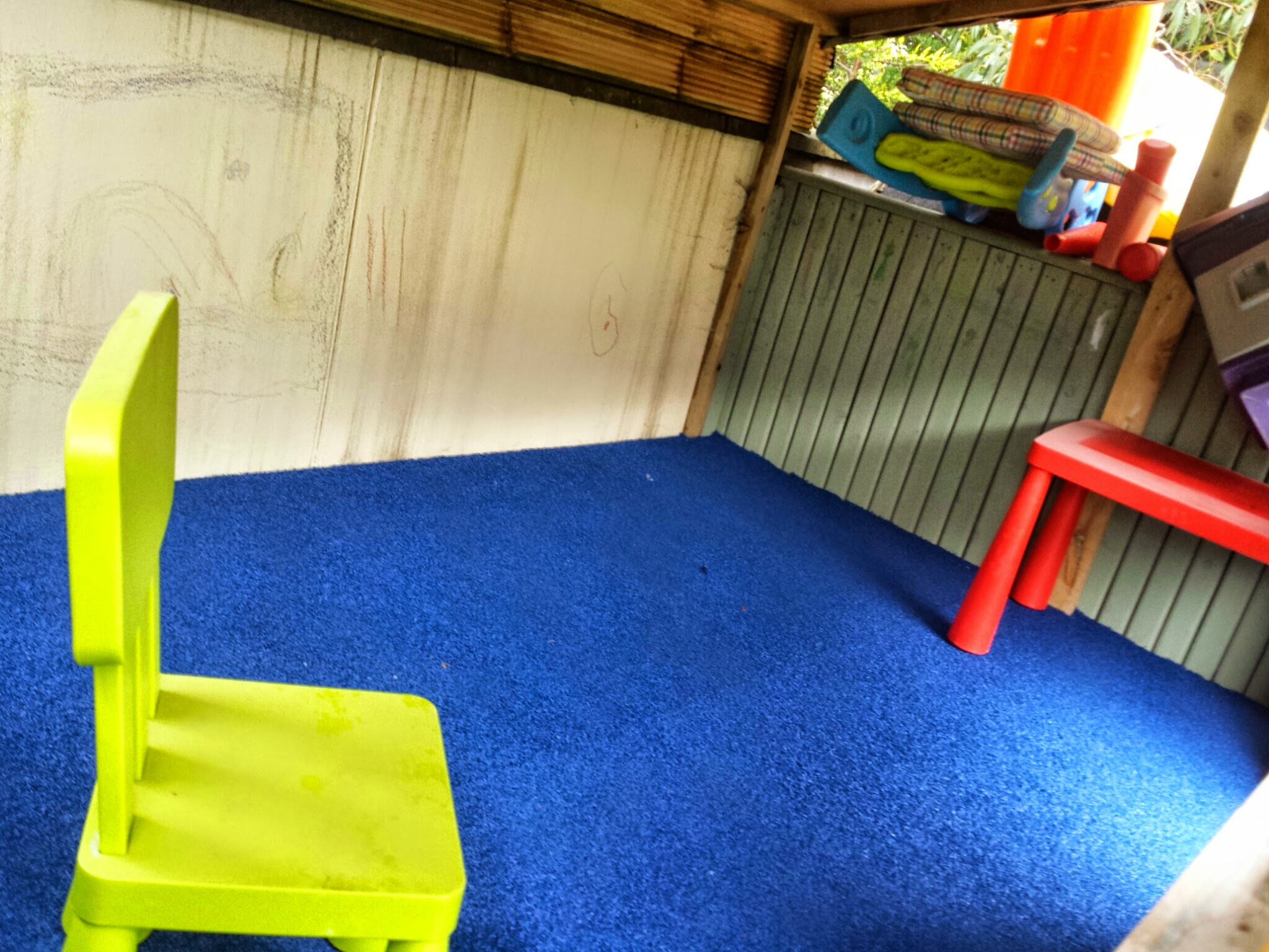 Blue TigerPlay installed on floor of treehouse