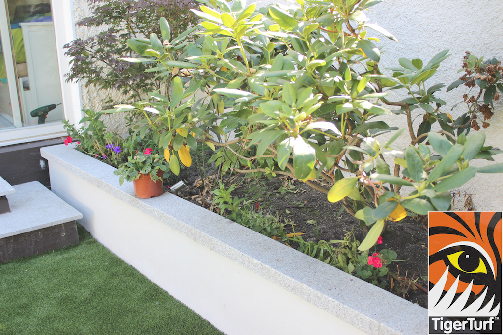 Raised bed and planting