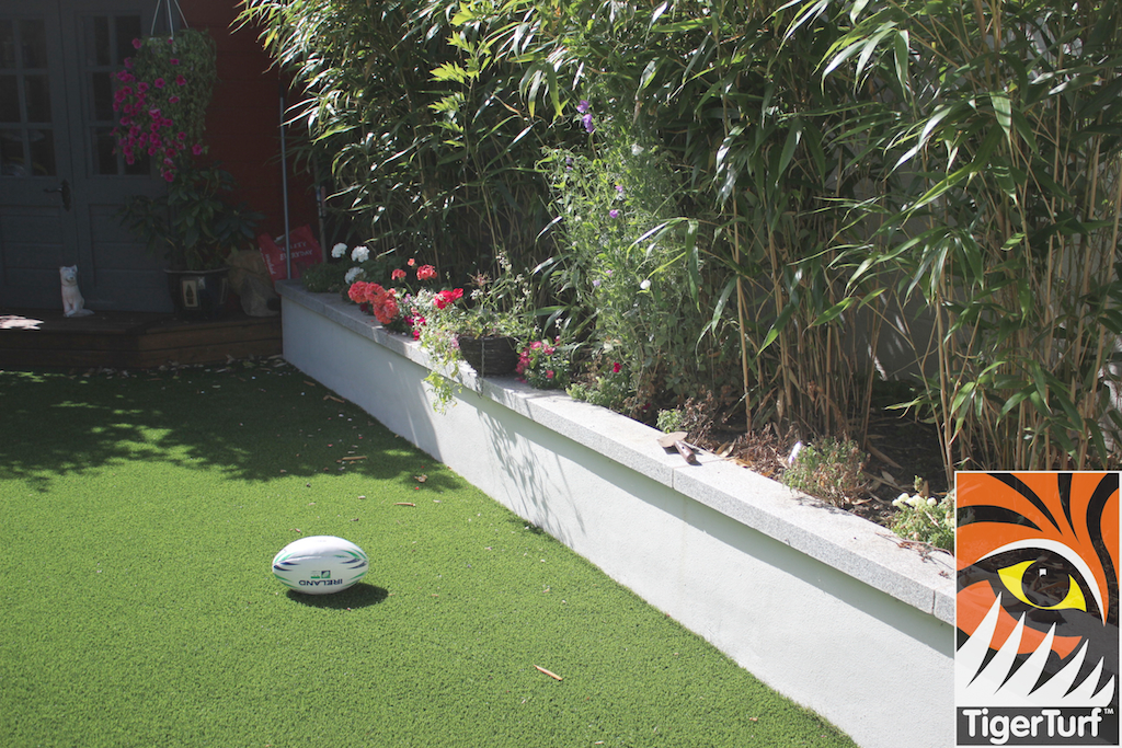 bamboo and synthetic grass