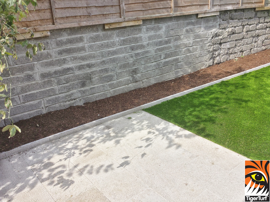 TigerTurf Finesse Deluxe and granite patio