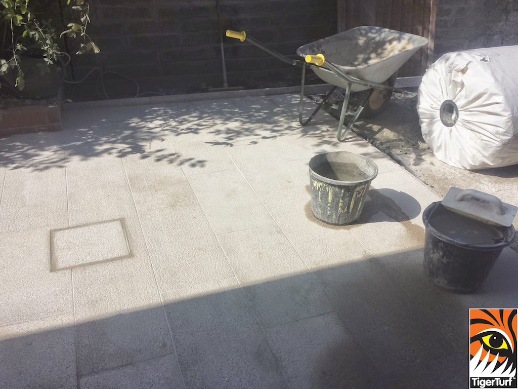 screeded sand before grass fitting