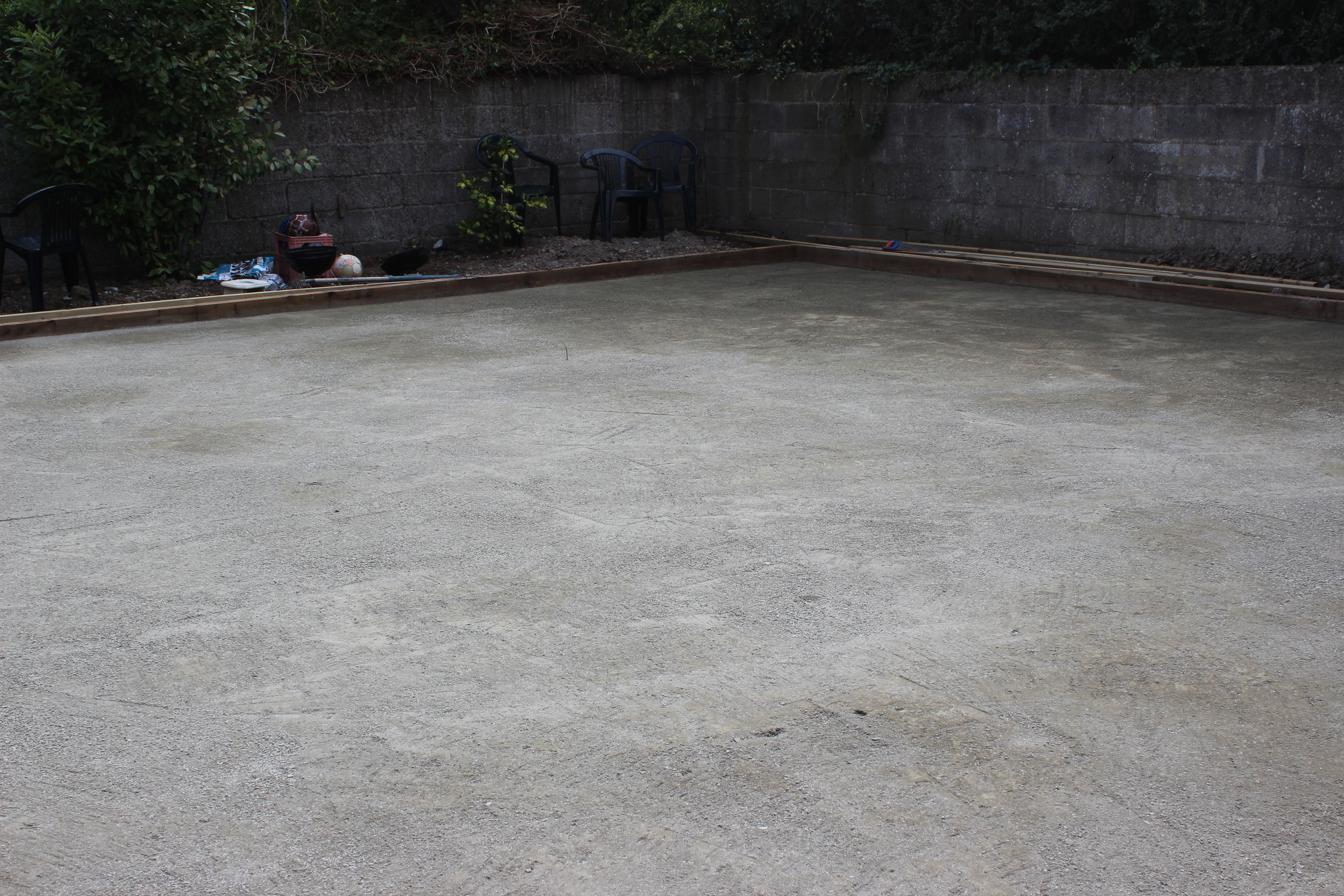 base material preparation for grass