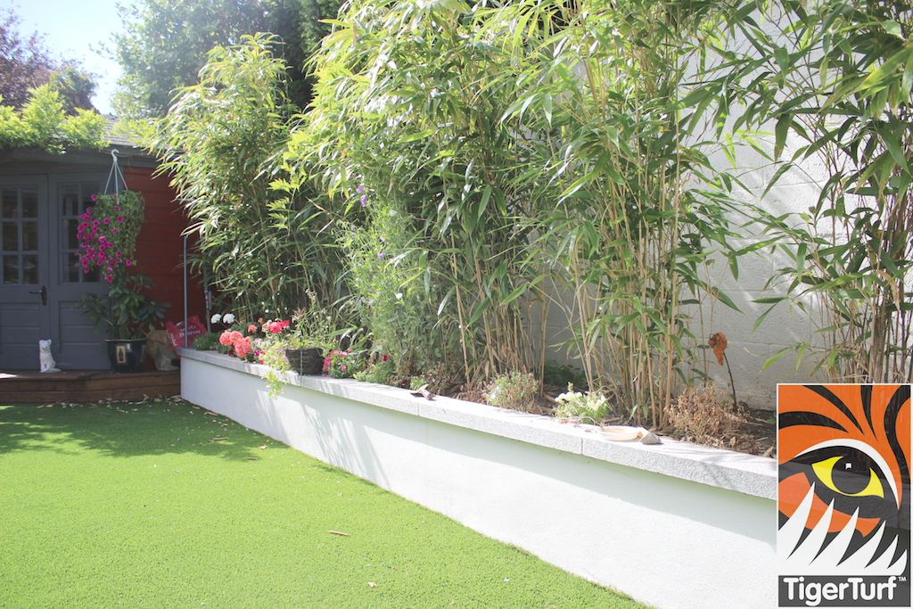 Raised bamboo bed