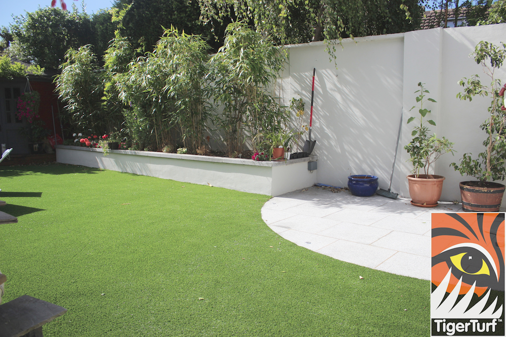 Garden with new lawn