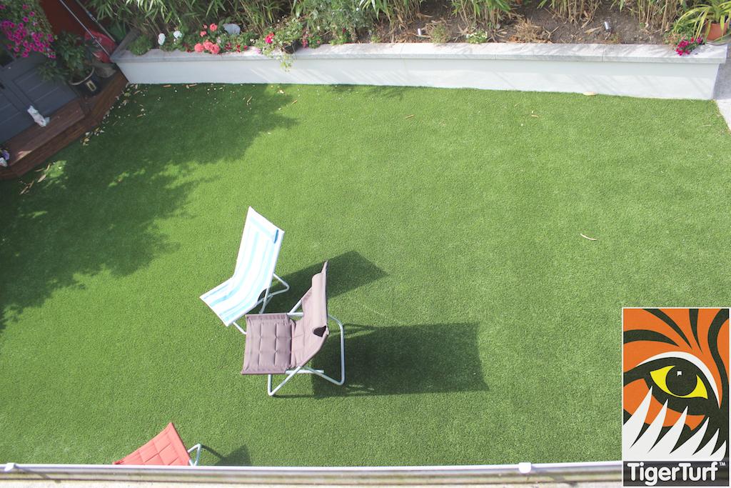 overhead shot of TigerTurf Lawn