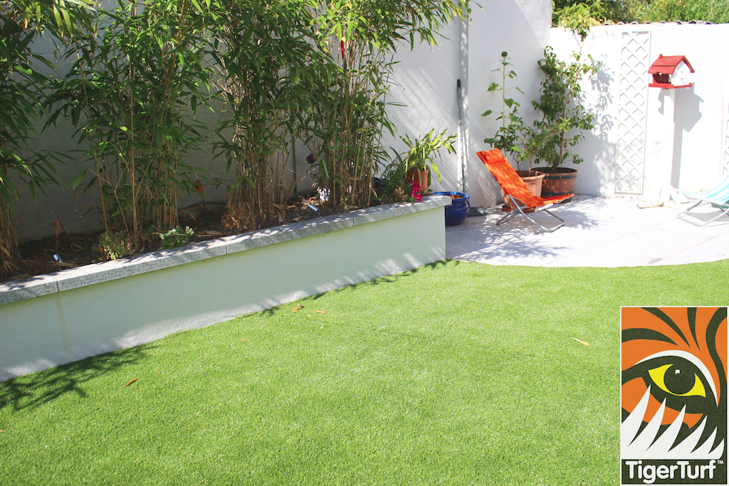 raised bamboo bed and patio