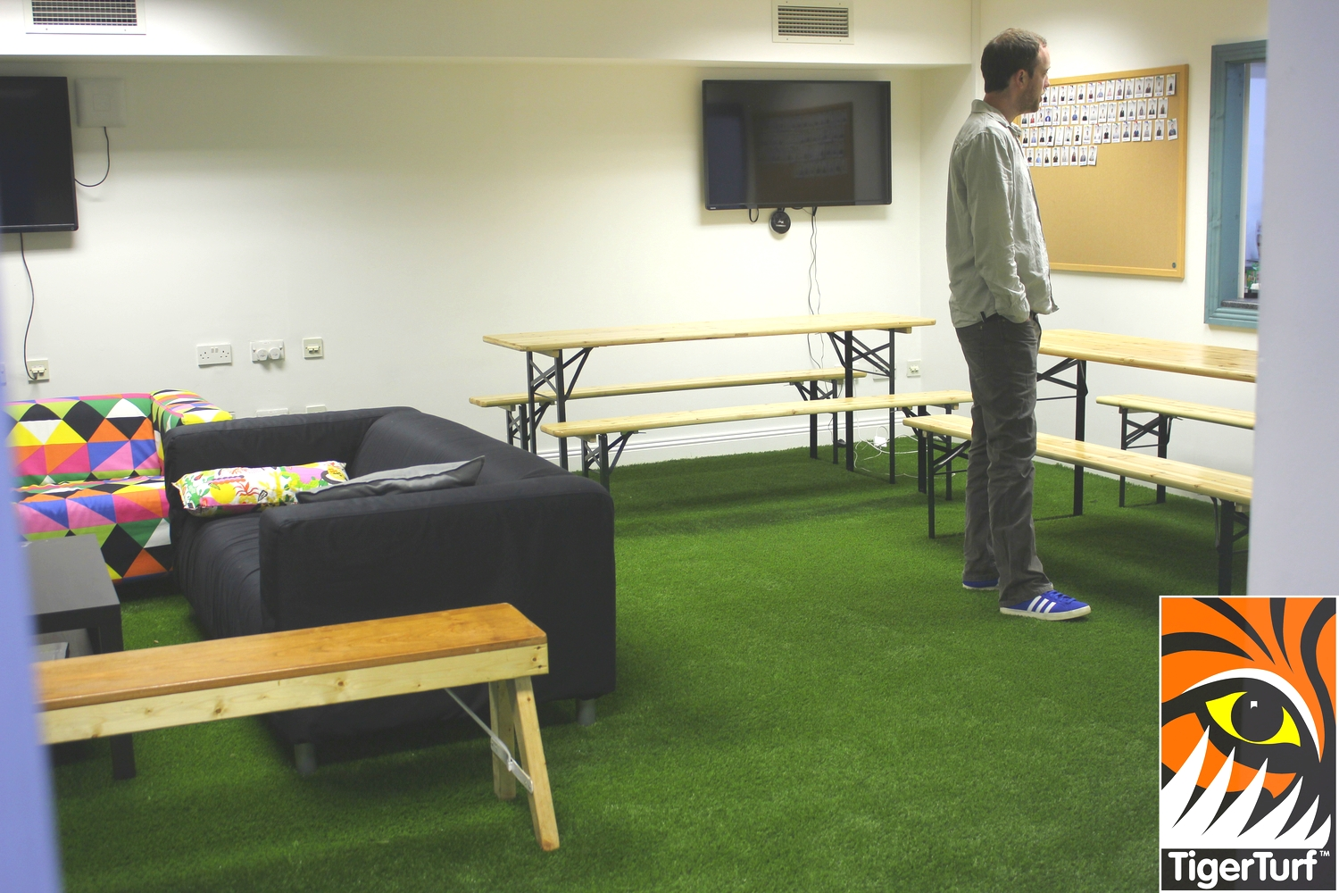 TigerTurf installed in Office communal area