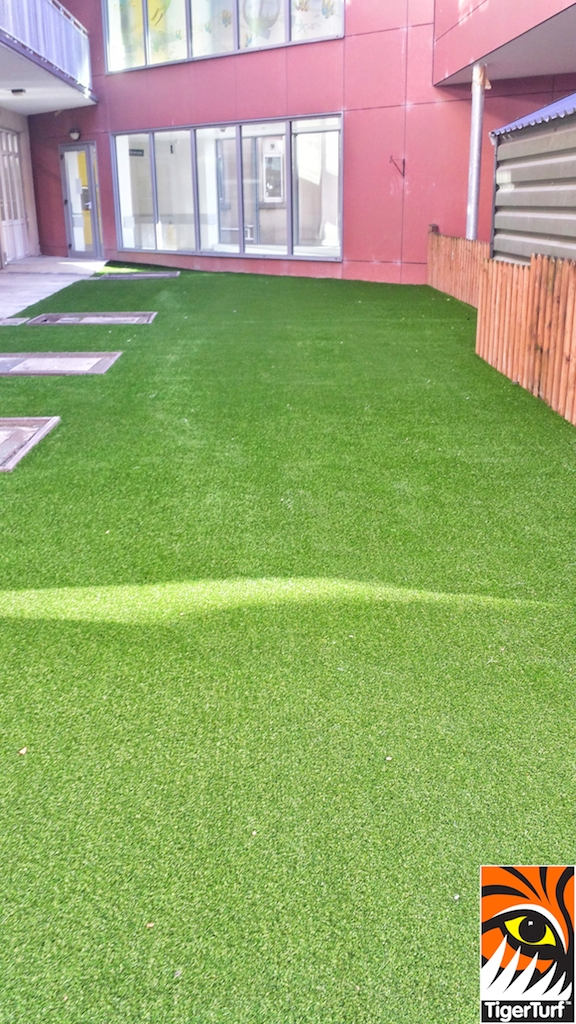 courtyard with grass in Crumlin hospital