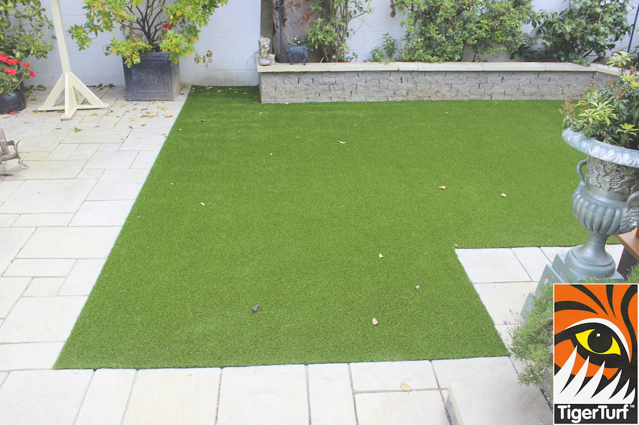 Artificial TigerTurf landscape lawn