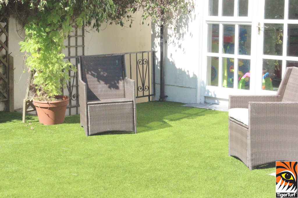 synthetic turf and paving