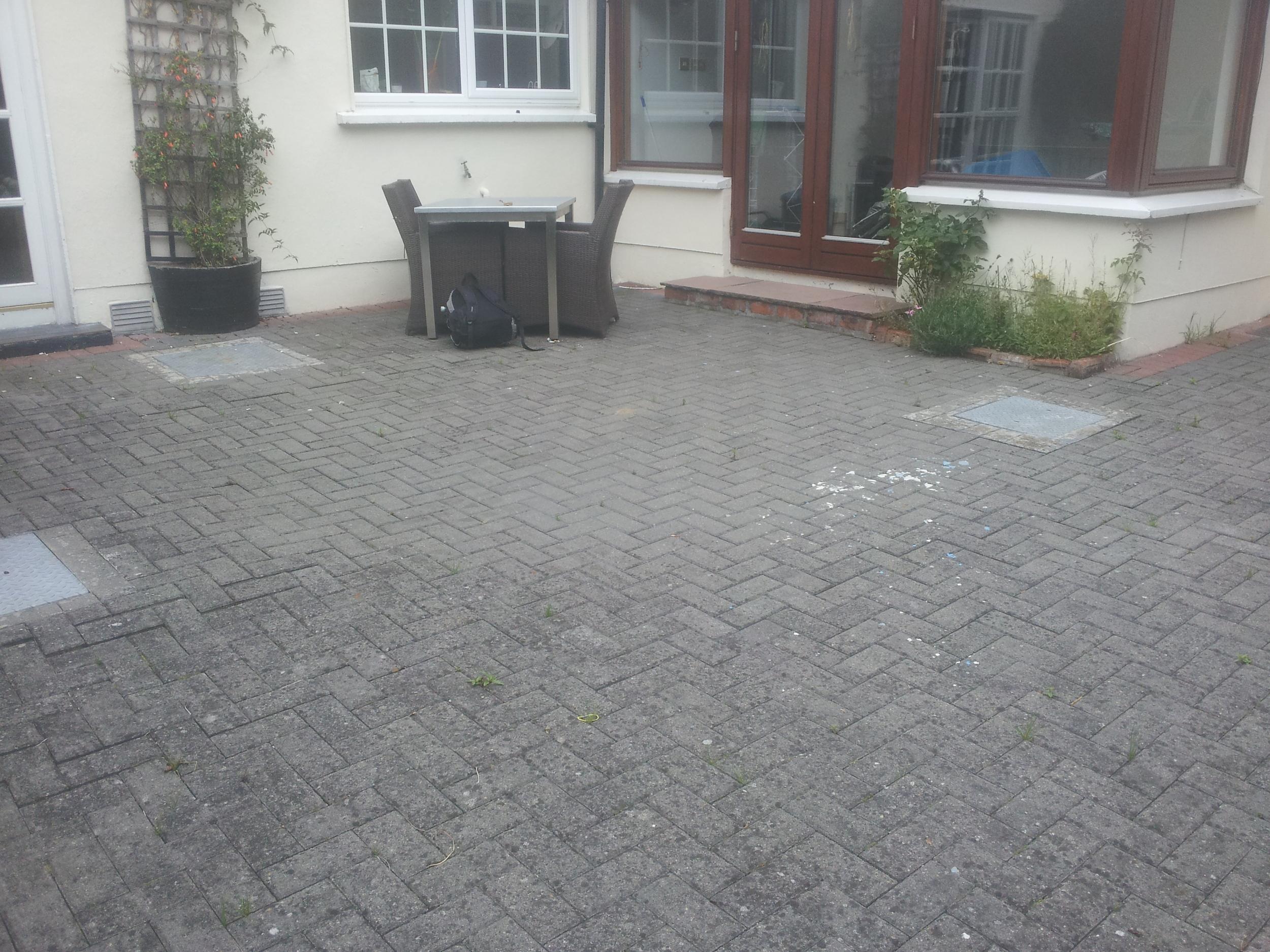 Garden prior to granite Patio being Installed