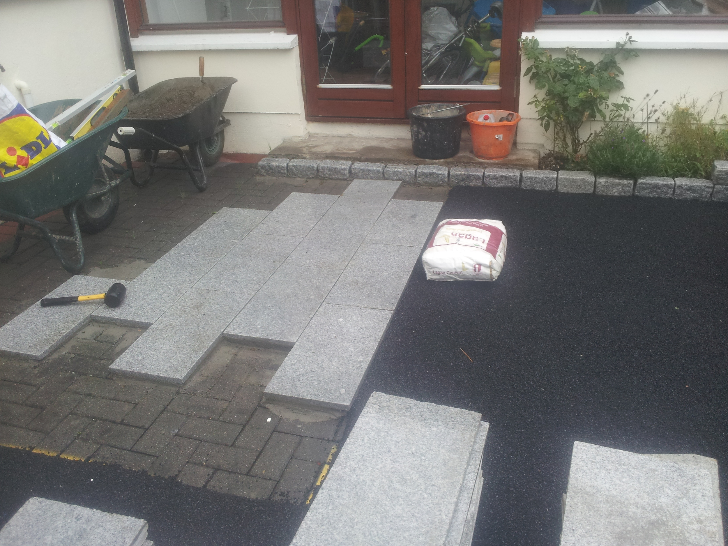 patio being installed