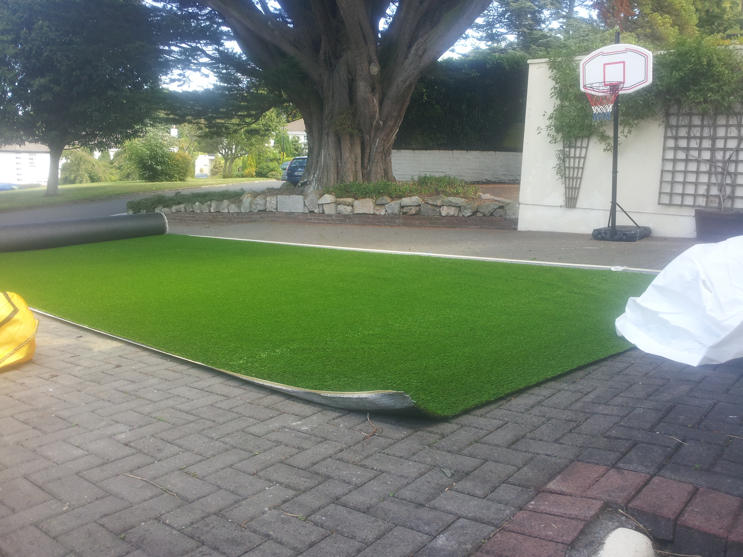roll of grass in front Drive