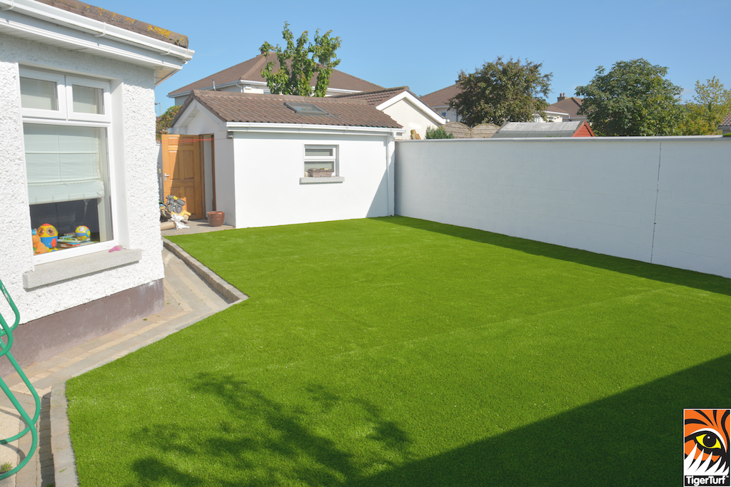 newly installed TigerTurf Lawn
