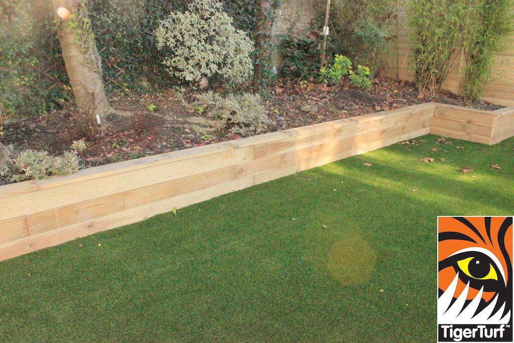 Family garden with artificial Grass