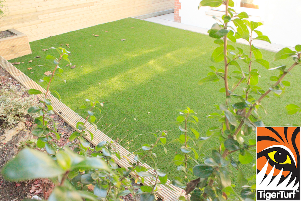 New flower Bed and Artificial lawn