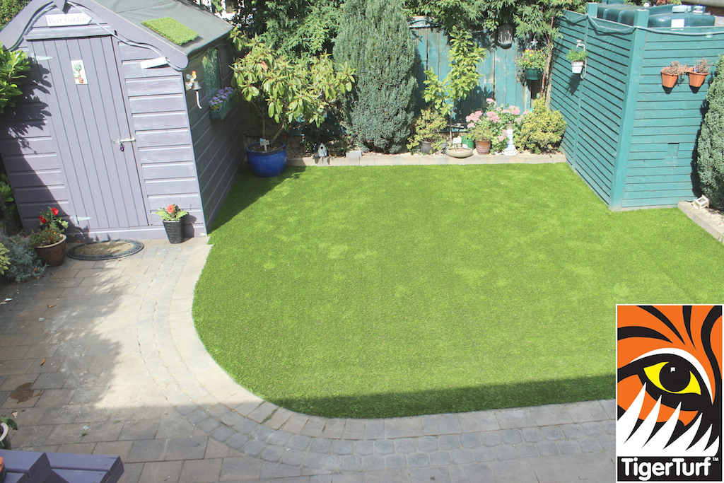 artificial grass and shed