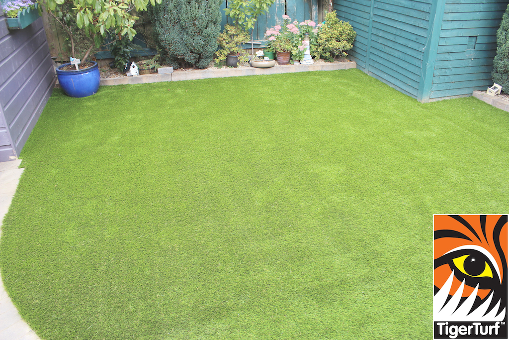 nice new artificial lawn