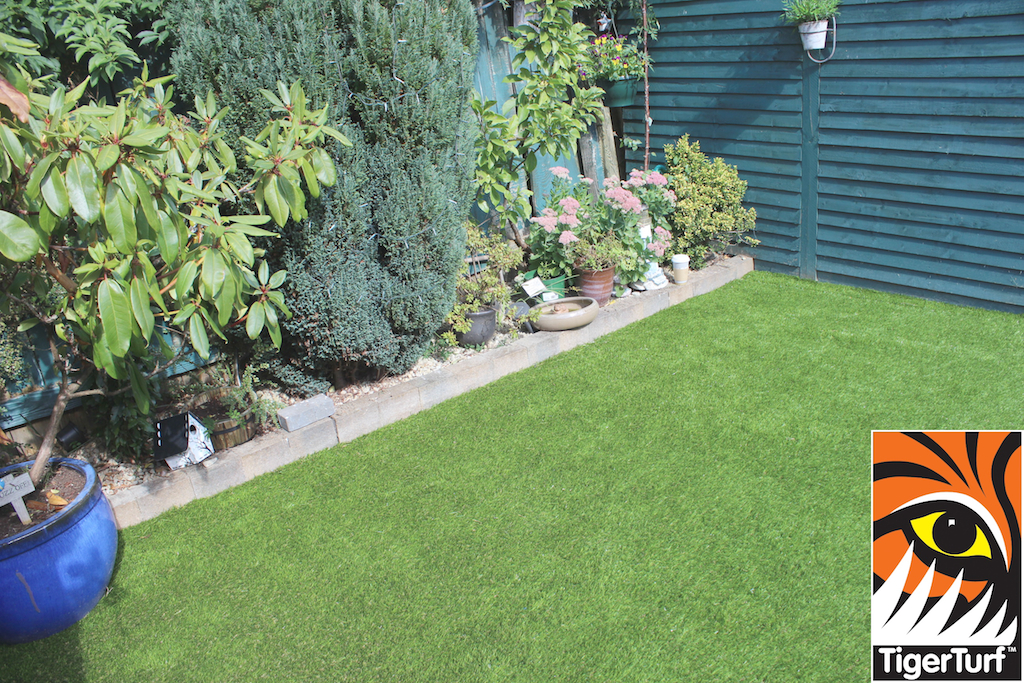 TigerTurf lawn and planting area
